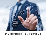 automation software technology... | Shutterstock . vector #674184535