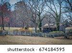 Old Log Cabin On The Farmstead