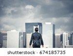 strong  determined business man ... | Shutterstock . vector #674185735