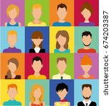 people flat icons avatar   Shutterstock .eps vector #674203387