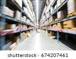 situation in department store... | Shutterstock . vector #674207461