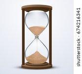 vector stock of sand hour glass ... | Shutterstock .eps vector #674216341