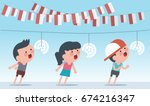 indonesia traditional special... | Shutterstock .eps vector #674216347