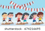indonesia traditional special... | Shutterstock .eps vector #674216695