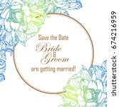 vintage delicate invitation... | Shutterstock .eps vector #674216959
