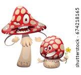 vector cartoon image of a funny ... | Shutterstock .eps vector #674218165