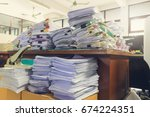 concept of document workload ... | Shutterstock . vector #674224351