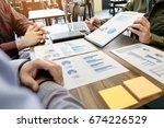 business meeting office.... | Shutterstock . vector #674226529