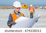 worker plan engineer | Shutterstock . vector #674228311