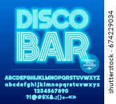 neon bright set of alphabet... | Shutterstock .eps vector #674229034