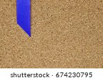 blue ribbon placed on cork... | Shutterstock . vector #674230795