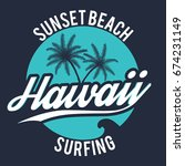 80s style surf sport typography.... | Shutterstock .eps vector #674231149