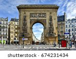 paris  france   may 16  2017 ... | Shutterstock . vector #674231434