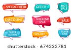 sale speech bubble set for shop.... | Shutterstock .eps vector #674232781