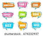 trendy speech bubble colorful... | Shutterstock .eps vector #674232937