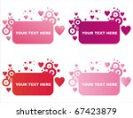 set of 4 st. valentine's day... | Shutterstock .eps vector #67423879