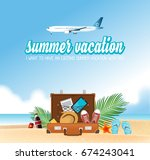 summer holiday vacation concept ... | Shutterstock .eps vector #674243041