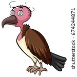 vulture with dizzy face... | Shutterstock .eps vector #674244871