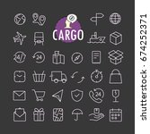 different cargo icons vector...