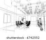 the modern office interior... | Shutterstock . vector #6742552
