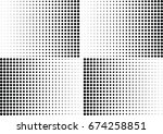 abstract halftone dotted... | Shutterstock .eps vector #674258851