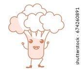 broccoli fresh kawaii character | Shutterstock .eps vector #674260891