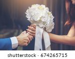 will you marry me   yes i do.... | Shutterstock . vector #674265715