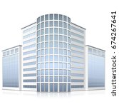 office building with entrance... | Shutterstock .eps vector #674267641