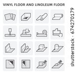 vinyl floor and linoleum floor... | Shutterstock .eps vector #674270179