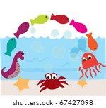 cartoon sea animals   Shutterstock .eps vector #67427098