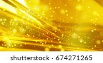golden background image with... | Shutterstock . vector #674271265