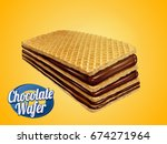 chocolate wafer design element  ... | Shutterstock .eps vector #674271964