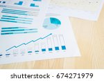 graphs and charts | Shutterstock . vector #674271979