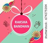 creative greeting card design... | Shutterstock .eps vector #674275204