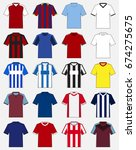 set of soccer jersey or... | Shutterstock .eps vector #674275675