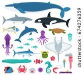 underwater animals and sea... | Shutterstock .eps vector #674276359