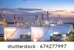 close up view at oil and gas... | Shutterstock . vector #674277997