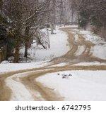 early snowy road | Shutterstock . vector #6742795