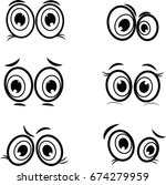 cartoon eyes black and white in ... | Shutterstock .eps vector #674279959