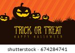 trick or treat halloween... | Shutterstock .eps vector #674284741