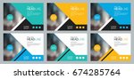 set template design for social... | Shutterstock .eps vector #674285764