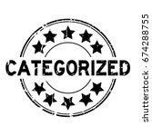 grunge black categorized with... | Shutterstock .eps vector #674288755