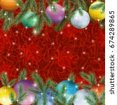 christmas holiday background ... | Shutterstock . vector #674289865
