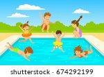 children kids  cute boys and... | Shutterstock .eps vector #674292199