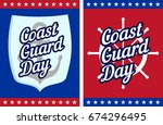 coast guard day cards or... | Shutterstock .eps vector #674296495