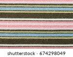 brown pink knitting fabric... | Shutterstock . vector #674298049