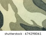 military army camouflage fabric ... | Shutterstock . vector #674298061