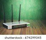 wi fi wireless internet router... | Shutterstock . vector #674299345