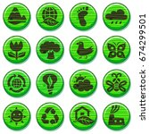 eco green environment icons set ... | Shutterstock .eps vector #674299501