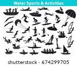 summer water beach sports ... | Shutterstock .eps vector #674299705